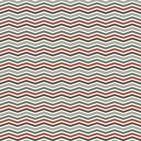 Chevron diagonal stripes abstract background. Retro style seamless pattern with classic geometric ornament. Zigzag horizontal lines wallpaper. Digital paper, textile print, page fill. Vector art Illustration