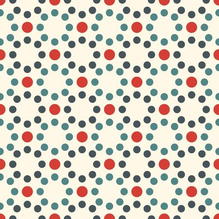 Mini circle seamless pattern. Classic geometric surface print. Repeated polka dot motif ornament. Simple geo dotted ornamental background. Modern minimal design texture. Vector abstract wallpaper