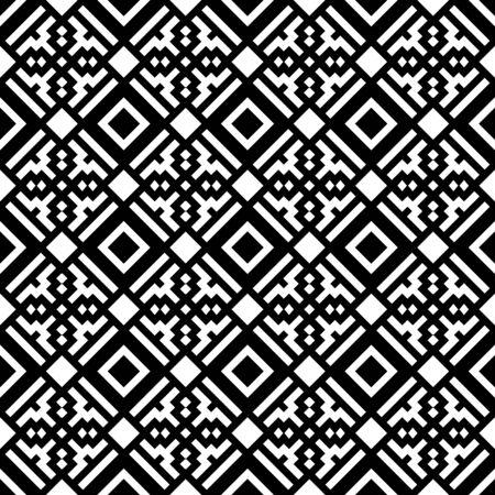 Ethnic ornament. Tribal wallpaper. Embroidery background. Ethnical folk image. Tribe motif. Ancient mosaic. Digital paper, web design, textile print, backdrop. Seamless vector art work illustration. 矢量图片