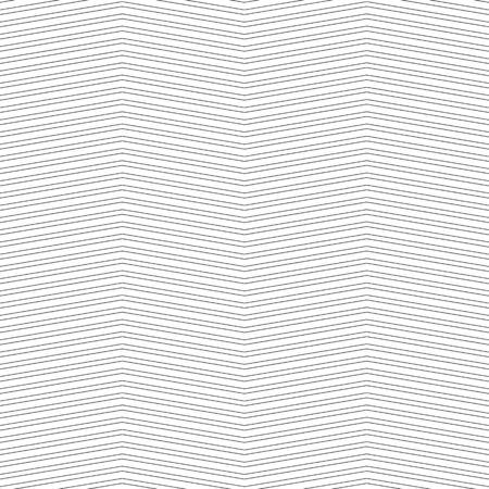 Black zigzag lines. Jagged stripes. Seamless surface pattern design with triangular waves ornament. Repeated chevrons wallpaper. Digital paper for page fills, web designing, textile print. Vector art.