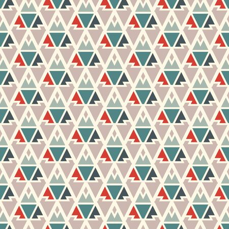Ethnic, tribal seamless surface pattern. Native americans style background. Repeated geometric figures motif. Contemporary abstract wallpaper. Boho chic digital paper, textile print. Vector art