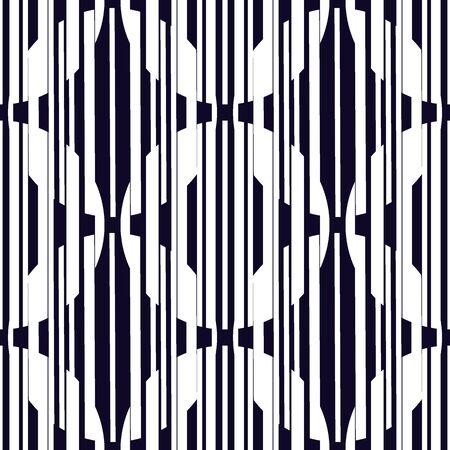 Modèle sans couture ajouré. Lignes hachurées répétées, impression de surface de cercles qui se chevauchent. Fond géométrique de texture mixte. Maillons ronds, rayure verticale, motif étoiles. Ornement de vecteur abstrait délicat Vecteurs