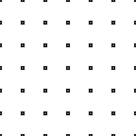 Black check ornamentation on white background. Seamless surface pattern design with squares ornament. Checkered wallpaper. Checks motif. Ethnic digital paper for textile print, page fill. Vector art