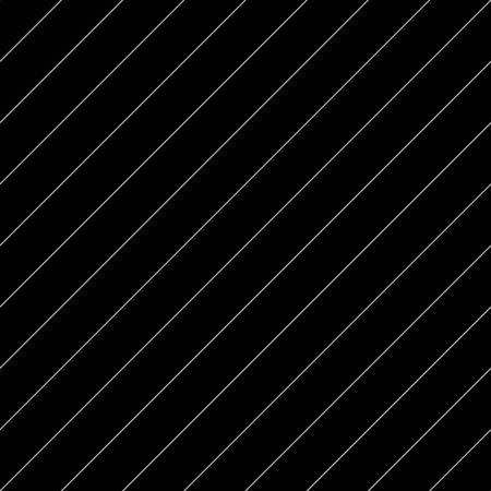 Diagonal thin white lines abstract on black background. Seamless surface pattern design with linear ornament. Angled straight stripes motif. Slanted pinstripe. Striped digital paper for print. Vector. Illustration