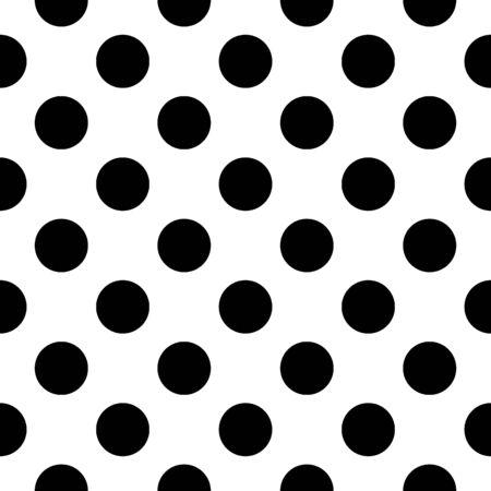 Seamless pattern. Big dots wallpaper. Circles ornament. Polka dot motif. Circular figures backdrop. Rounds background. Dotted motif. Vector image. Digital paper, textile print, web design, abstract.