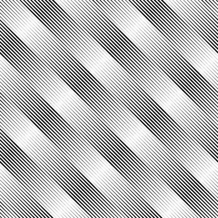 Lines seamless pattern. Diagonal stripes ornate. Striped image. Linear background. Strokes ornament. Abstract wallpaper. Modern halftone backdrop. Digital paper, web design, textile print, vector work  イラスト・ベクター素材