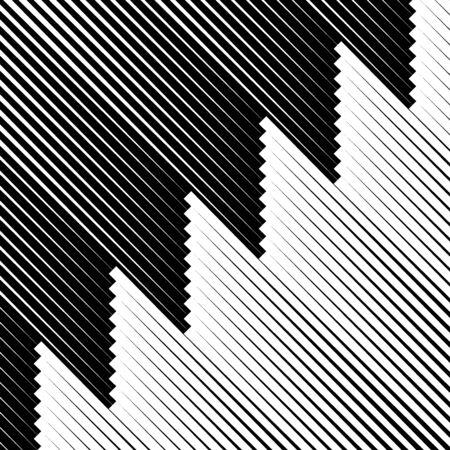 Diagonal stripes ornate. Lines pattern. Striped image. Linear background. Strokes ornament. Abstract wallpaper. Modern halftone backdrop. Digital paper, web design, textile print, vector artwork