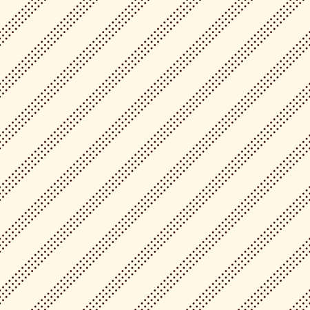 Polka dot seamless pattern. Repeated dotted diagonal stripes texture. Round spots motif. Mini circles abstract wallpaper. Simple minimalist geometric background. Vector digital paper, textile print