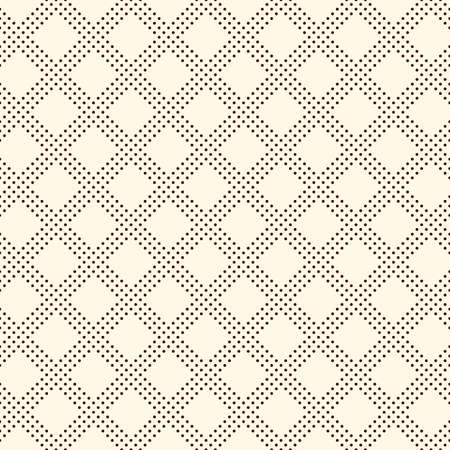 Polka dot seamless pattern. Repeated dotted diagonal stripes texture. Round spots checked motif. Mini circles abstract wallpaper. Simple minimalist geometric background. Vector digital paper Vectores