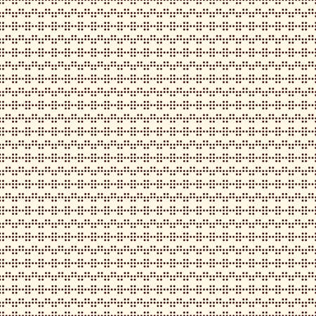 Polka dot seamless pattern. Repeated dotted zigzag stripes texture. Round spots motif. Mini circles abstract wallpaper. Simple minimalist geometric background. Vector digital paper, textile print Vectores