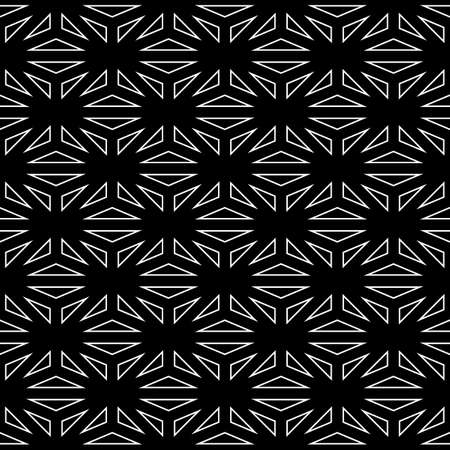 Seamless surface pattern design with asanoha ornament. Interlocking triangles background. Image with repeated triangular shapes. Geometric image. Ethnic japanese embroidery motif. Vector for print.