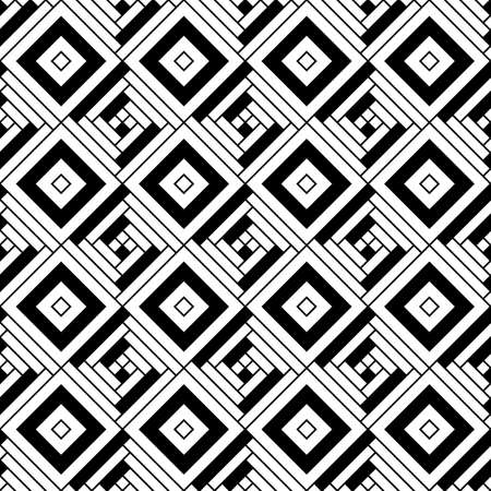 Repeated rhombuses and strokes ornamental background. Diamonds and stripes wallpaper. Ethnic seamless surface pattern design with geometric figures. Tribal embroidery motif. Digital paper, page fill.