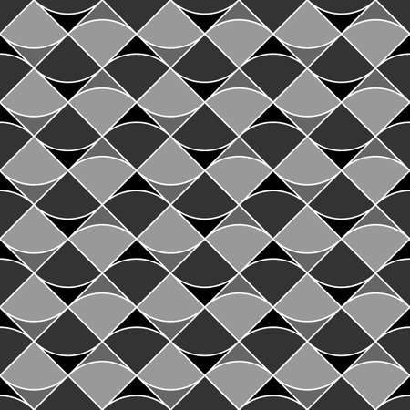 Triangular blocks wallpaper. Repeated geometrical figures background. Seamless surface pattern design with polygons. Mosaic motif. Digital paper with jagged triangles for web designing. Vector artwork