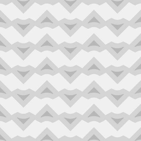 Triangular blocks wallpaper. Repeated geometrical figures background. Seamless surface pattern design with chevrons. Mosaic polygons motif. Digital paper with jagged triangles. Web designing. Vector.