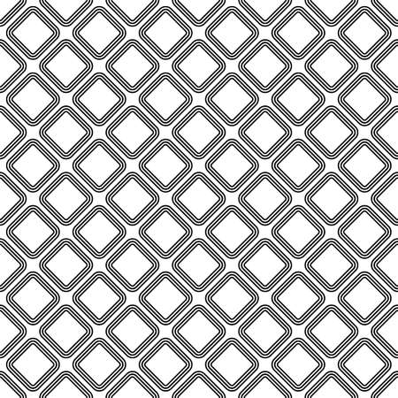 Rhombuses contours background. Seamless surface pattern design with diamonds ornament. Checks wallpaper. Ethnic mosaic motif. Crossed diagonal lines. Digital paper for textile print, page fill. Vector