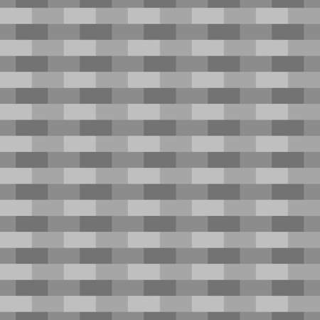 Seamless surface pattern design with blocks. Bricks cladding wall. Rectangle slabs tessellation vector. Repeated gray checks ornament background. Mosaic motif. Walling wallpaper. Digital paper. Vector