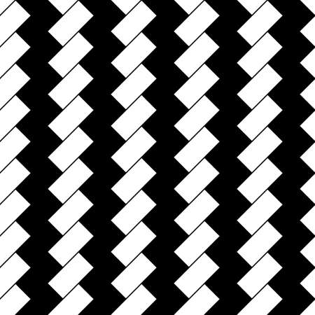White diagonal dashes on black background. Seamless surface pattern with linear ornament. Angled strokes motif. Slanted stripes. Striped digital paper, textile print., Page fill. Dashed lines vector. Ilustração