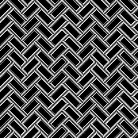 Herringbone pattern. Rectangles slabs tessellation. Seamless surface design with black blocks tiling. Floor cladding bricks. Repeated tiles ornament background. Mosaic motif. Pavement wallpaper.