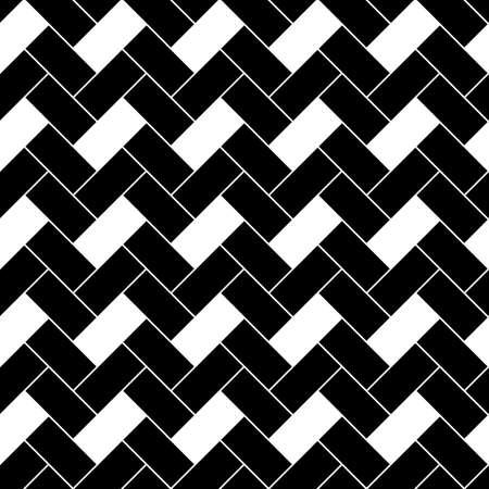 Herringbone pattern. Rectangles slabs tessellation. Seamless surface design with slanted blocks tiling. Floor cladding bricks. Repeated tiles ornament background. Mosaic motif. Pavement wallpaper.