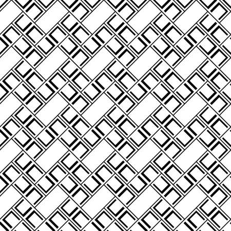 Geometrical abstract. Slanted rectangle slabs. Herringbone pattern. Seamless surface design with tilted blocks. Repeated tiles ornament background. Mosaic motif. Grid wallpaper. Square brackets vector