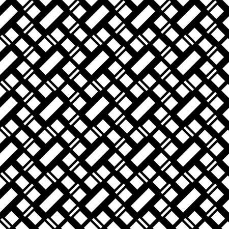 Geometrical abstract. Slanted blocks. Diagonal marks pattern. Seamless surface design with tilted strokes. Dashed ornament. Mosaic motif. Dashes background. Grid wallpaper. Digital paper. Vector art.