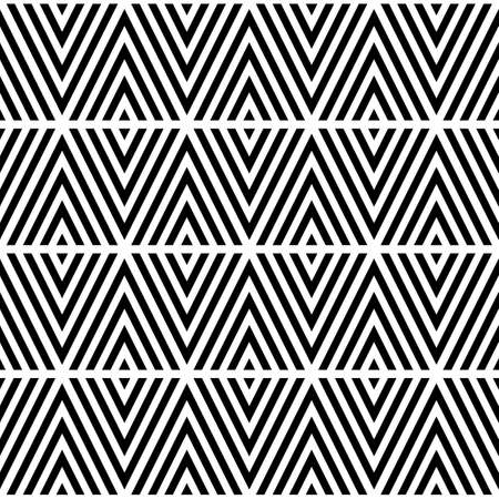 Black chevron lines on white background. Seamless surface pattern design with linear ornament. Curves wallpaper. Angle brackets motif. Digital paper with chevrons. Striped vector illustration.