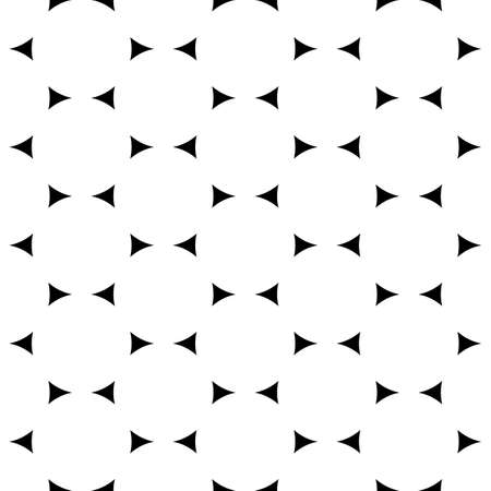 Seamless surface pattern design with jagged triangles. Triangular blocks wallpaper. Repeated black geometrical figures on white background. Ethnic mosaic motif. Digital paper with polygons ornament.
