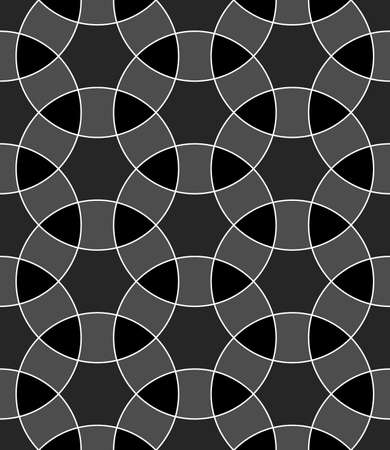 Seamless surface pattern design with ancient oriental ornament. Interlocking blocks tessellation. Repeated color figures background. Pavement motif. Flooring image. Ethnic composition wallpaper