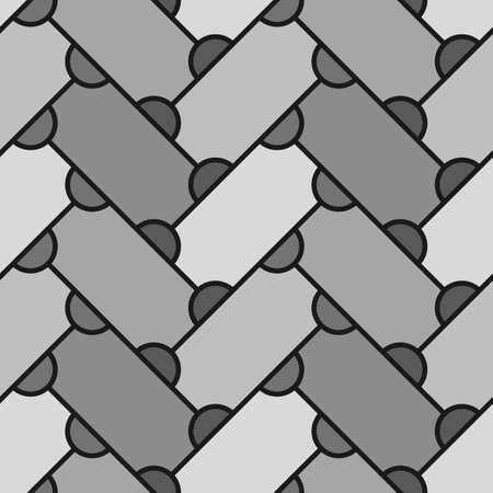 Abstract. Repeated figures background. Slabs tessellation. Seamless surface pattern design with slanted blocks tiling. Ethnic ornament. Mosaic motif. Geomrtric wallpaper.