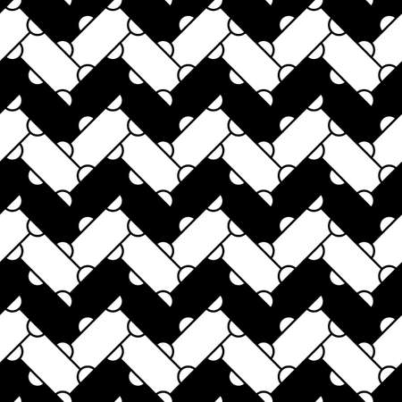 Abstract. Zigzag lines wallpaper. Repeated figures background. Slabs tessellation. Seamless surface pattern design with slanted blocks tiling. Ethnic ornament. Mosaic motif.