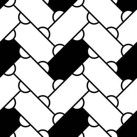 Grid image. Herringbone pattern. Slabs tessellation. Seamless surface design with slanted blocks tiling. Floor cladding bricks. Repeated tiles ornament background. Mosaic motif. Pavement wallpaper. Illustration