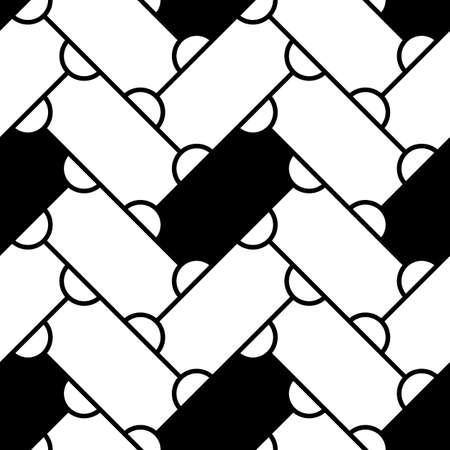 Grid image. Herringbone pattern. Slabs tessellation. Seamless surface design with slanted blocks tiling. Floor cladding bricks. Repeated tiles ornament background. Mosaic motif. Pavement wallpaper. Ilustração