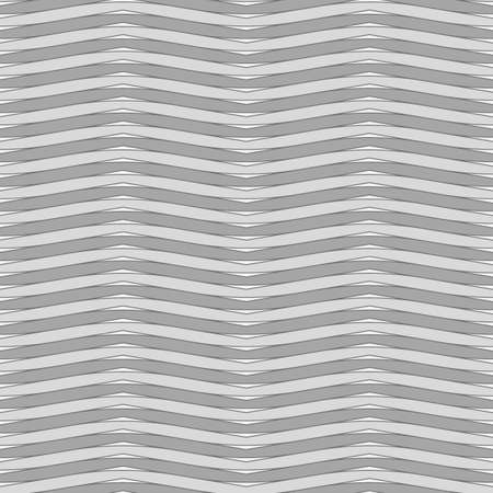 Gray wavy lines. and triangles Jagged stripes. Seamless surface pattern design with sine waves ornament. Repeated rounded curves wallpaper. Digital paper for page fills, web designing, textile print.