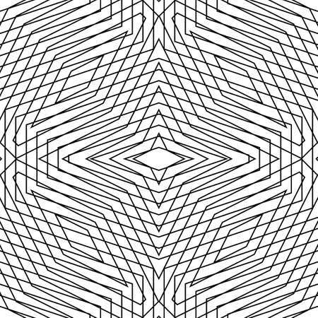 Overlapping figures abstract background. Crossing lines. Seamless surface pattern design with linear ornament. Grid wallpaper. Digital paper for page fills, web designing, textile print. Vector art. Illusztráció
