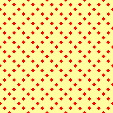 Seamless surface pattern design. Repeated red rhombuses on yellow background. Symmetric abstract wallpaper. Grill motif. Digital paper for textile print, page fill, web design. Vector art illustration Stock fotó - 155842000