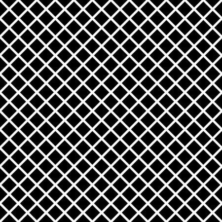 Black rhombuses tessellation on white background. Seamless surface pattern design with diamonds ornament. Crossed lines wallpaper. Grid motif. Digital paper for textile print, page fill. Vector art Stock fotó - 155842007