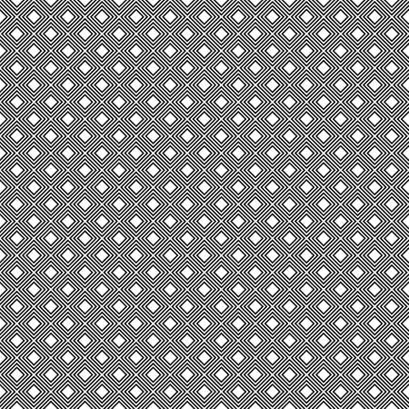 Black hollow rhombuses tessellation on white background. Seamless surface pattern design with diamonds ornament. Checkered wallpaper. Mosaic motif. Digital paper for textile print, page fill. Vector. Stock fotó - 155842008