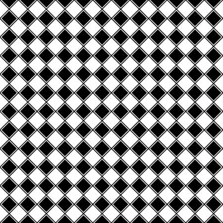 Black rhombuses tessellation on white background. Seamless surface pattern design with diamonds ornament. Checkered wallpaper. Mosaic motif. Digital paper for textile print, page fill. Vector art. Stock fotó - 155842012