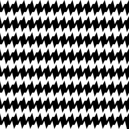 Seamless horizontal jagged striped pattern. Repeated black angular lines on white background. Sharp waves abstract wallpaper. Zigzag motif. For scrapbook paper, textile print. Wavy vector illustration
