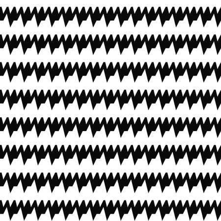 Seamless horizontal sharp edges lines pattern. Repeated black jagged stripes on white background. Waves abstract wallpaper. Zigzag motif. Digital scrapbook paper, textile print. Vector illustration Stock fotó - 155842053
