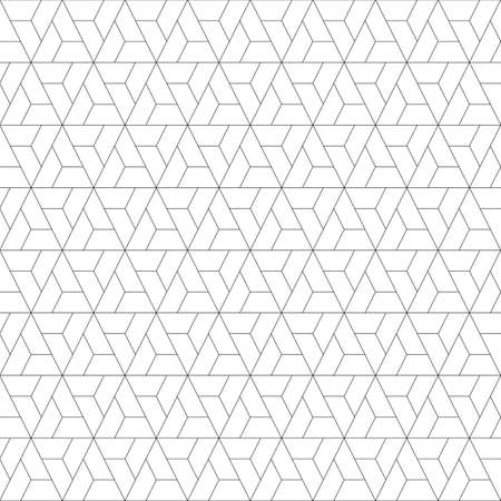 Mosaic pattern. Jagged figures ornament. Repeated puzzle shapes background. Logic game motif. Tiles wallpaper. Parquet backdrop. Grate image. Digital paper, web design, textile print. Seamless grid. Vektoros illusztráció