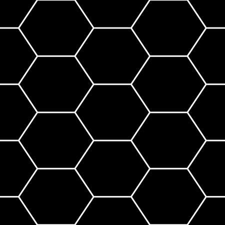 Hexagons. Honeycomb. Mosaic. Grid background. Ancient ethnic motif. Geometric grate wallpaper. Parquet backdrop. Digital paper, web design, textile print. Seamless ornament pattern. Abstract art image