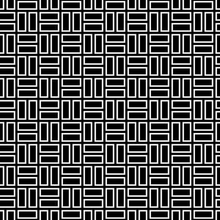 Seamless pattern with parquet ornament. Bricks cladding floor. Rectangle slabs tessellation image. Repeated stones ornamental background. Mosaic motif. Flooring wallpaper. Digital paper. Vector art. Illustration