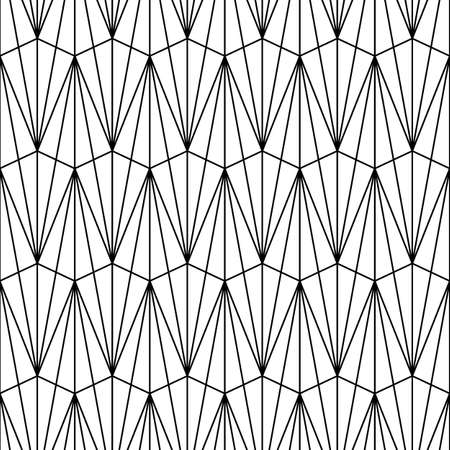 Seamless pattern with triangle shapes. Interlocking triangles tessellation background. Image with repeated triangular figures. Modern japanese motif. Grid wallpaper. Digital paper for print. Vector.