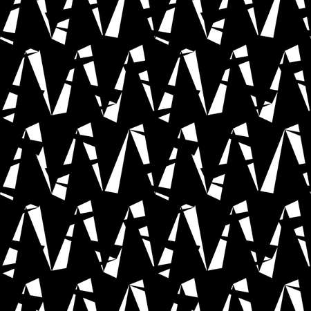 Seamless pattern with zigzag lines. Triangular waves ornament. Jagged stripes. Triangle shapes background. Repeated chevrons wallpaper. Triangles image. Digital paper, textile print. Vector art.