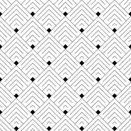 Seamless japanese mountains pattern. Repeated chevrons, angle brackets, curves background. Squama ornament. Scales image. Ancient window tracery motif. Digital paper for textile print. Vector art.  イラスト・ベクター素材