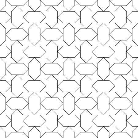 Seamless Egyptian ornament. Arabic mosaic background. Tribal wallpaper. Ethnical folk image. Ethnic motif. Ancient arabesque tiles. Digital paper, web design, textile print, backdrop. Vector art work.