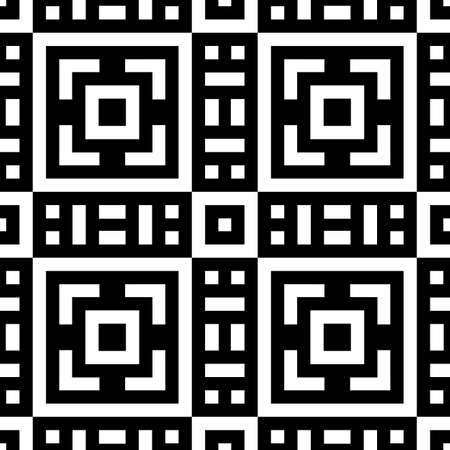 Tribe motif. Ethnic wallpaper. Ancient mosaic. Ethnical folk image. Tribal ornament. Embroidery background. Seamless abstract art. Vector artwork.