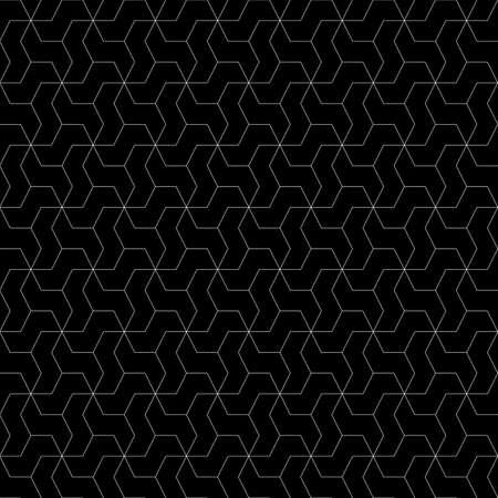 Mosaic. Zigzag figures ornament. Repeated puzzle shapes background. Mosaics motif. Grate wallpaper. Grid backdrop. Seamless abstract pattern. Vektoros illusztráció