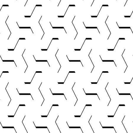 Curves. Zigzag figures. Repeated broken lines background. Linear motif. Grate wallpaper. Grid backdrop. Seamless modern abstract pattern.